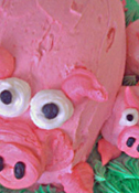 Buttercream Pig and Piglets 3D Cake